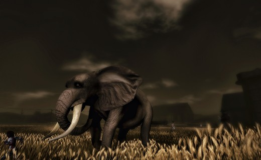 Being hunted by elephants? In SL? (photo courtesy Draxtor Despres)