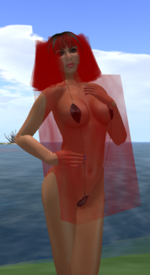 The collision box around this mesh deformer-capable swimsuit is clearly visible. Good luck clicking on attachments that are inside it.