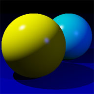 Specular highlights on a pair of spheres. Image source: Wikipedia