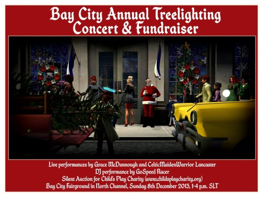 Bay City Tree Lighting Poster 2013. Image by Marianne McCann