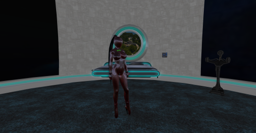 My avatar, viewed from the front with my custom settings.