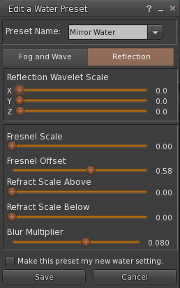 "And now, let's take care of the ""Reflection"" tab."
