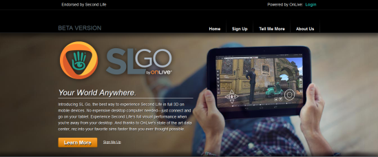 The SL Go website