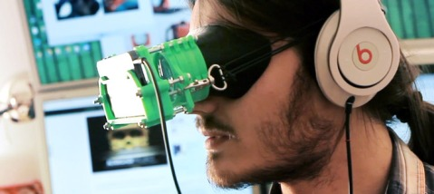 The Altergaze 3D-printed VR goggles. Image courtesy of Altergaze.