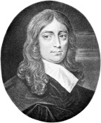 John Milton - From a miniature by Fairthorne, painted in 1667. Image: Project Gutenberg