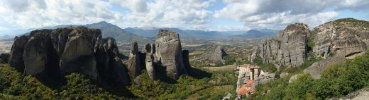 Panorama of the Meteora. Source: Wikipedia