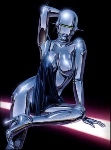 "One of Hajime Sorayama's ""Sexy Robots"""