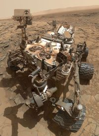 NASA's Curiosity Mars rover. It will not explore the areas where liquid water has been found, as it is not considered to be sufficiently sterilised, and so it might contaminate them with terran microbes. Image credit: NASA. Please click on the picture for a larger version (opens in new tab / window).