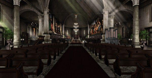 """The majestic interior of the Basilica, where """"Paradise Lost"""" was performed."""