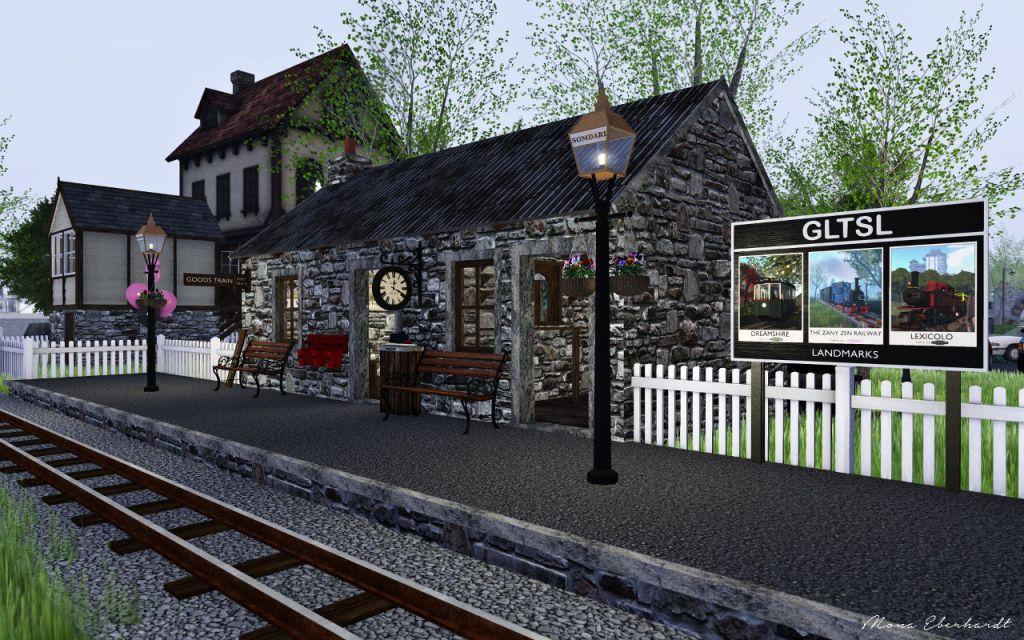 The Zany Zen Railway station at Somdari