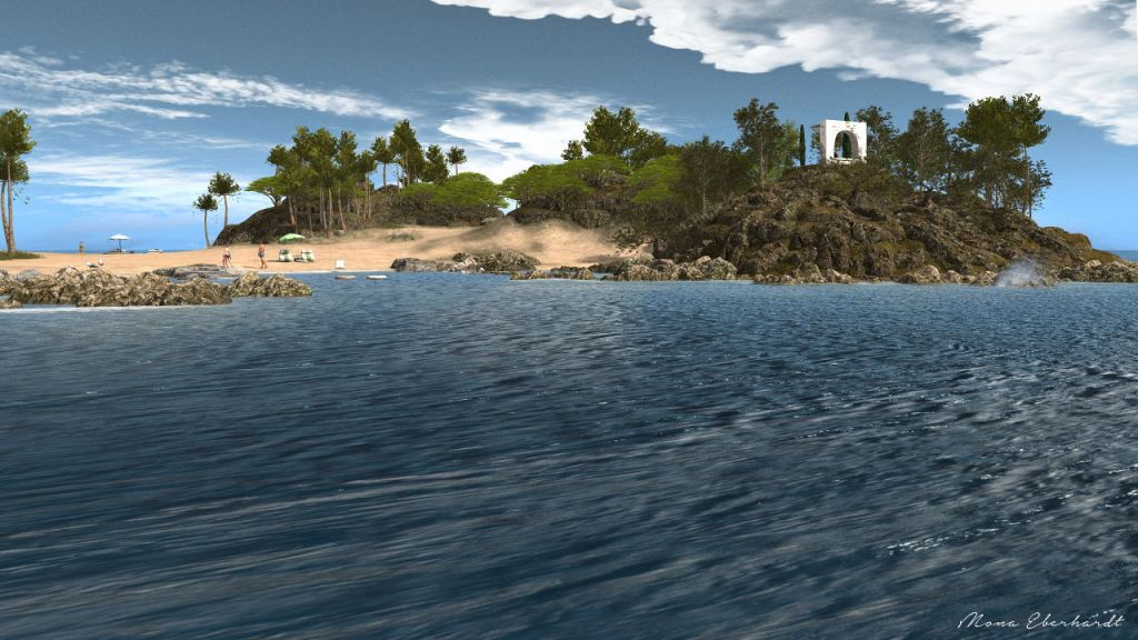 One of the beaches on Nefeli Island
